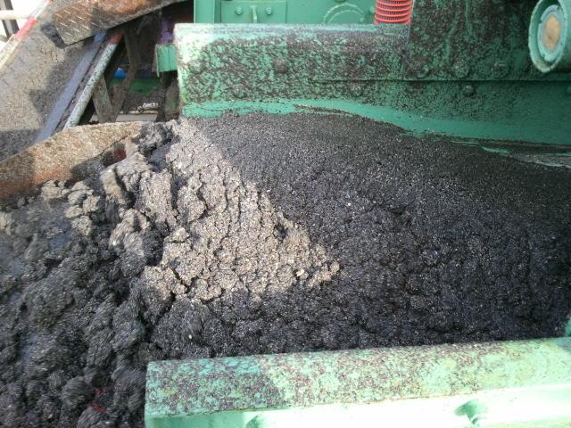 サイクロン付振動フルイで分級された砂(10㎥/h)