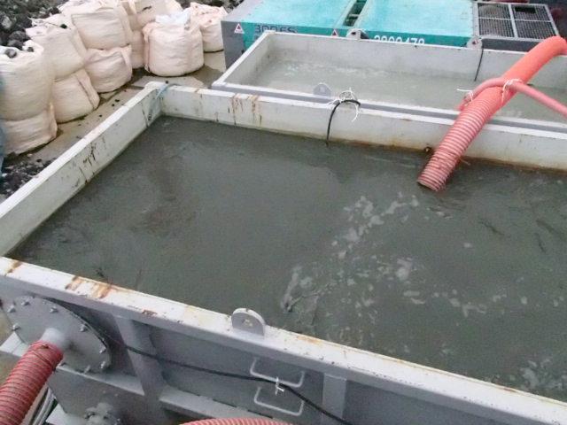 処理泥水(比重1.1)